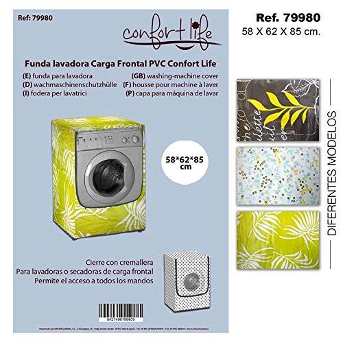 Sini Funda Lavadora Carga Frontal PVC Confort Life 58X62X85CM ...