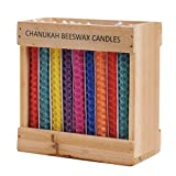 Multicolored Beeswax Honeycomb Hanukkah Candles / 45 Pack