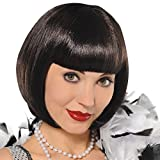Amscan Wig Flapper,Black,One Size