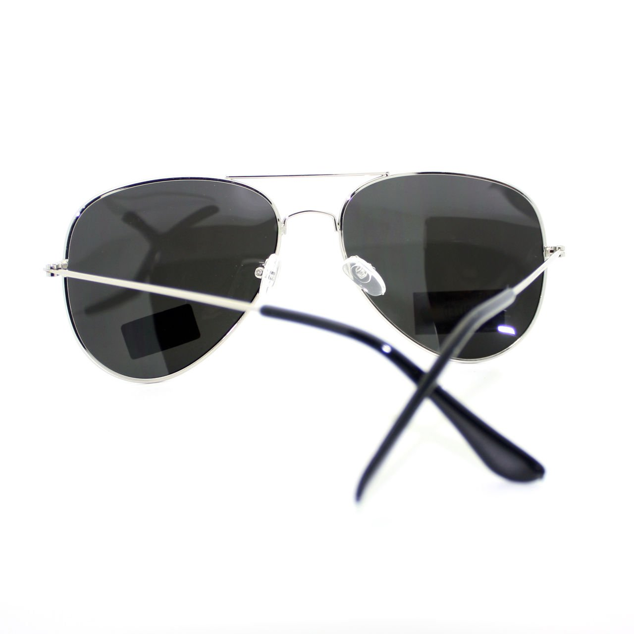 0cc3a85ba5 Amazon.com  Air Force Polarized Silver Mirror Lens Police Style Cop Pilot  Sunglasses  Clothing