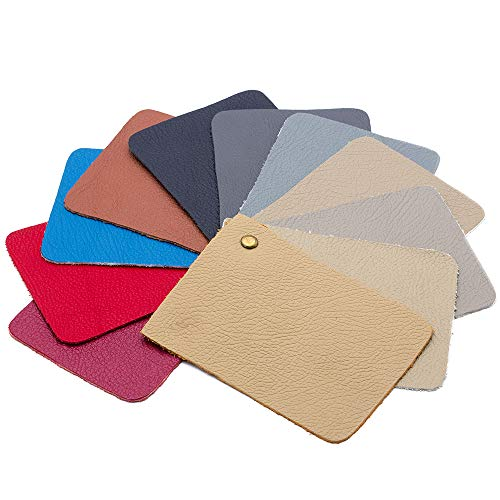 "Sntieecr 36 Pieces Assorted Colors PU Leather Fabric Sheets, Litchi Fabric Cotton Back 8.3"" x 6.3"" (21cm x 16cm) for Making Bags, Hair Bow, Craft Sewing by Sntieecr (Image #4)"