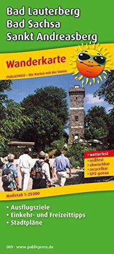 Wanderkarte Bad Lauterberg, Bad Sachsa, Sankt Andreasberg: Mit Ausflugszielen, Einkehr- & Freizeittipps und Stadtplänen, wetterfest, reissfest, abwischbar, GPS-genau. 1:25000