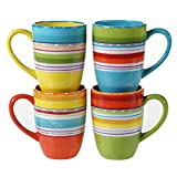 Certified International 25628SET/4 Mariachi Mugs (Set of 4), 20-Ounce, Multicolor