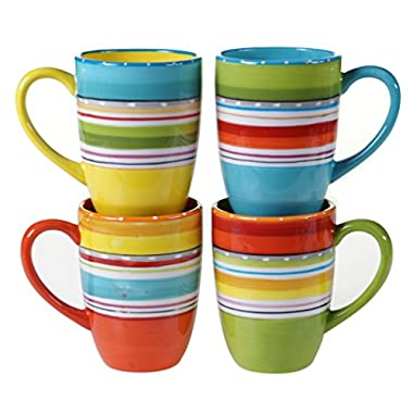 Certified International 25628SET/4 Mariachi Mugs (Set of 4), 20 oz, Multicolor