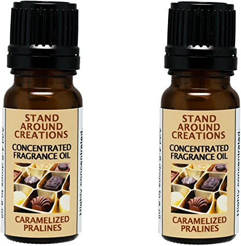 (Set of 2 - Concentrated Fragrance Oil - Caramelized Pralines: An irresistible blend of sweet warm vanilla caramel, dark brown sugar w/butter-drenched pecans.Infused w/essential oils.(.33 fl.oz.))