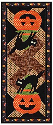 Midnight Masquerade Table Runner Quilt Kit // Halloween Fall Fabric