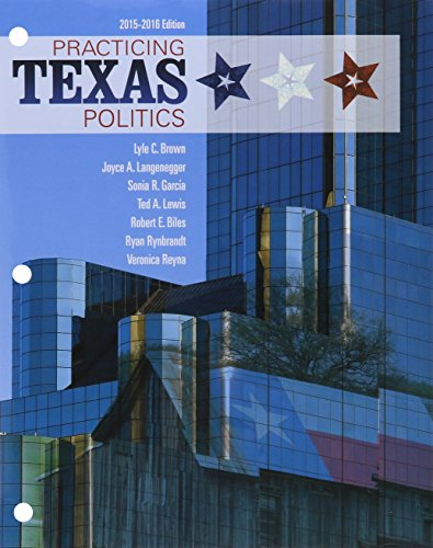 Bundle: Practicing Texas Politics, 2015-2016, 16th + LMS Integrated MindTap Political Science, 1 term (6 months) Printed Access Card