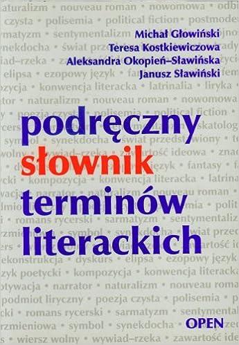 Podreczny Slownik Terminów Literackich Amazoncouk Michal