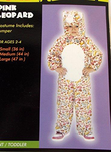 Pink Leopard Child Toddler Costume Jumper Ages 2-4 36' NIP -