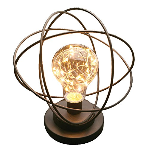 Table Desk Lamp - Atomic Age Led Metal Accent (Bronze Modern Desk Lamp)