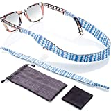 Sunglass and Glasses Sport Strap - 2pk Active Eyewear Retainer with Bonus Items (Frosty Tecs)