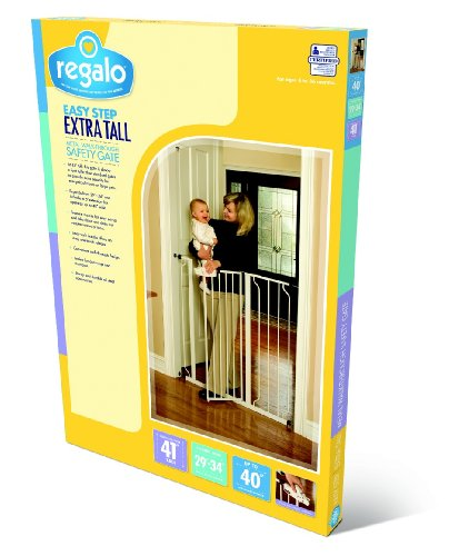 Large Product Image of Regalo Easy Step Extra Tall Walk Thru Gate, White
