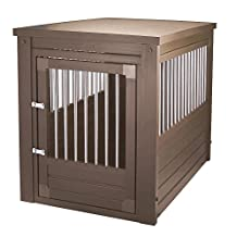 New Age Pet Habitat 'n Home InnPlace Pet Crate with Metal Spindles, Large, Russet