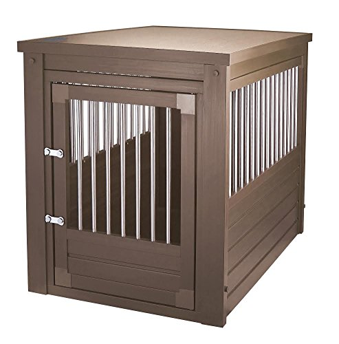 (New Age Pet EHHC103L EcoFlex Habitat-n-Home Inn Place Crate/Table (Russet Brown))