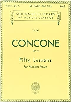 Giuseppe Concone Fifty Lessons Op.9 For Medium Voice