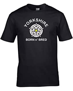 cc8f08bb Ice-Tees Yorkshire Born n' Bred- White Rose- Men's T-Shirt