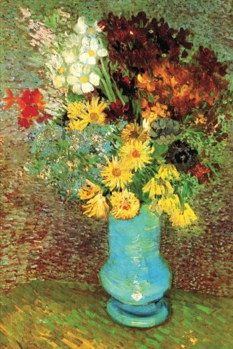 vase with daisies and anemones vincent van gogh still life wildflower journal blank lined book great works of art notebooks