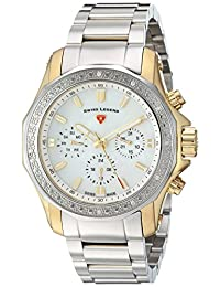 Swiss Legend SL-16201SM-SG-22 Women's Islander Quartz Stainless Steel Automatic Wrist Watch, Two Tone