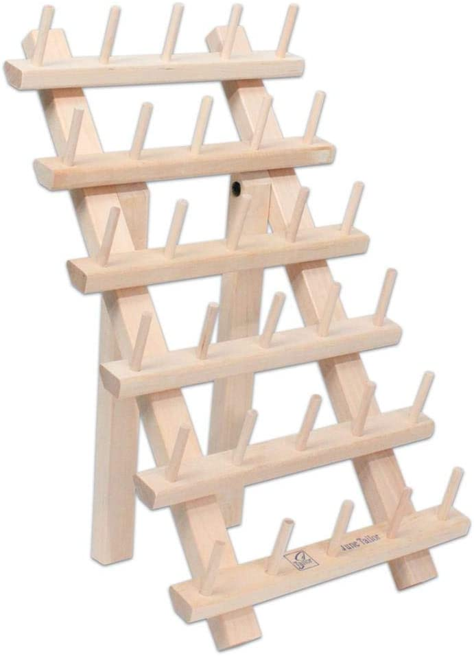 B006QYP5HW June Tailor Wood Thread Rack 30 Mini Spool w/Legs WoodThreadRack30MiniSpoolwLegs 51Ji8DnNDPL