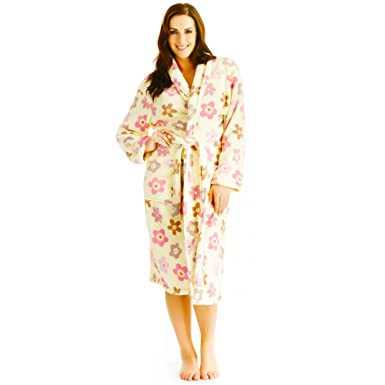 Image Unavailable. Image not available for. Colour  Ladies  Supersoft Coral  Fleece Wrap Flower Dressing Gown Bath Robe ... d6aa9e76f