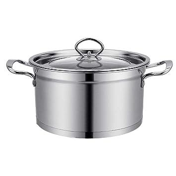 Exceptional Utensilios De Cocina Bandeja De Acero Inoxidable, Ollas Para Cocinar Con  Tapas De Vidrio, Cazo 26cm / 6L, Acero Inoxidable 201, Apto Para  Lavavajillas: ...