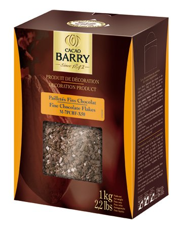 Cacao Barry Cocoa B Chocolate Flakes, Paillete, 2.2 Lb (Pack of 1) ()