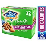 Blue Diamond Almonds Whole Natural Raw Almonds 100 Calorie On The Go Bags, 32 Count