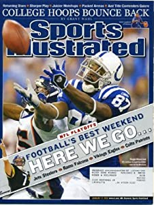 Sports Illustrated January 17, 2005 Reggie Wayne/Indianapolis Colts vs New England Patriots, NFL Playoffs, Dwyane Wade/Miami Heat