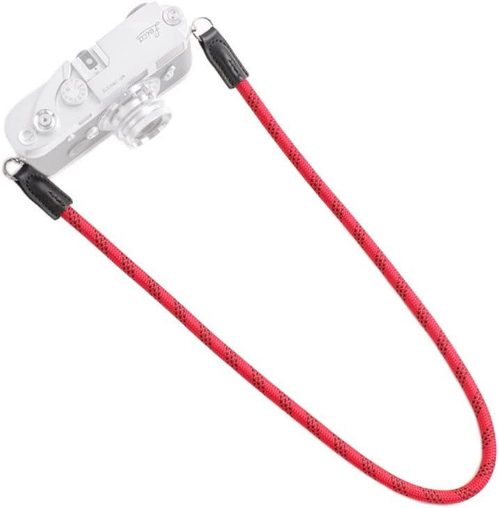 // 49.2in. 125cm.//49.2in, Red CAM-IN Outdoor Series High Strength Climbing Rope Camera Straps Suitable for Round Hole Interface Cameras 125cm
