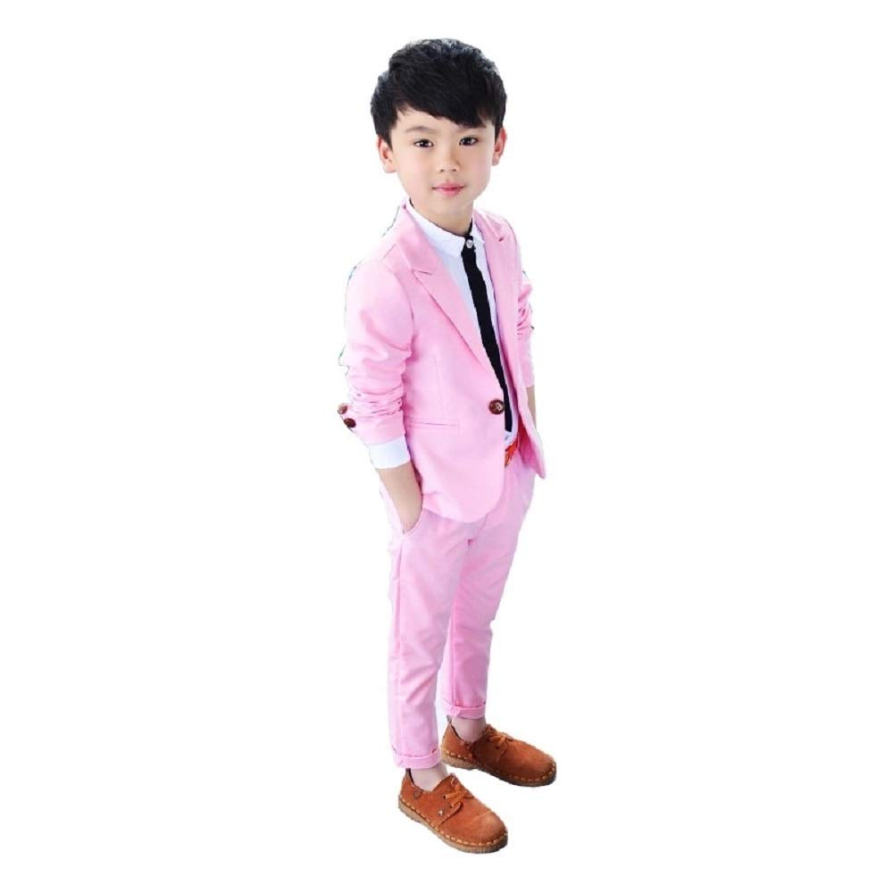 Buy THE DUBAI STUDIO Baby Boy's Pink and Blue Cotton Party Suits with  Jacket+Pant (Set of 2) at Amazon.in