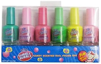 Amazon.com : Dubble Bubble 6 Pieces Candy Scented Nail Polish Set ...
