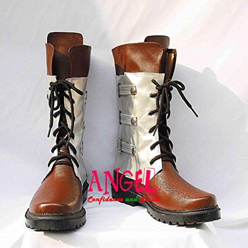 【サイズ選択可】男性27CM B1B00847 コスプレ靴 ブーツ ファイナルファンタジーXIII スノウ B01NA7EE1B 男性27CM  男性27CM
