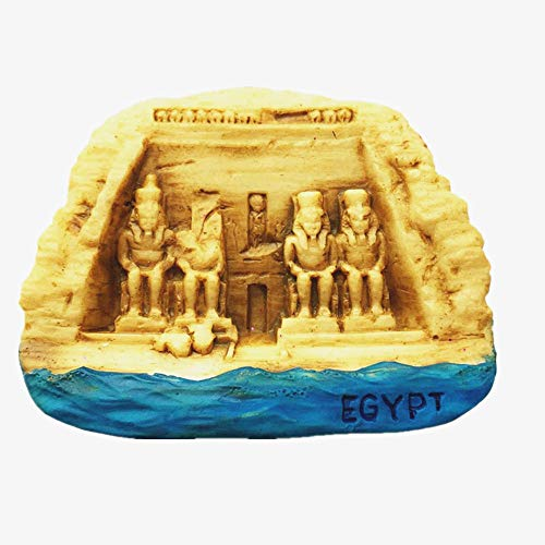 - 3D Temple of Abu Simbel Egypt souvenir fridge magnet,Home & kitchen decoration polyresin craft, Temple of Abu Simbel Egypt refrigerator magnet sticker