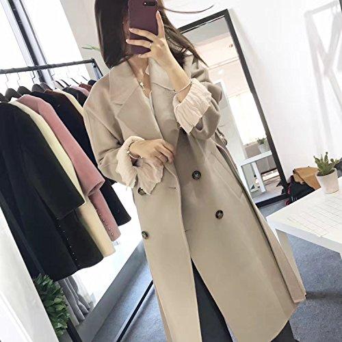 Loose Medium Length Female Beige Coat Coat Fur Xuanku xwqO4O