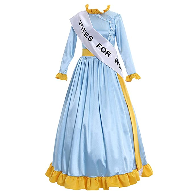 1900s, 1910s, WW1, Titanic Costumes CosplayDiy Womens Dress for Mary Poppins Mrs Banks Winifred Suffragette Cosplay Costume $129.00 AT vintagedancer.com
