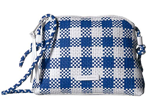 Loeffler Randall Mallory Woven Crossbody Bag Blue/White One Size