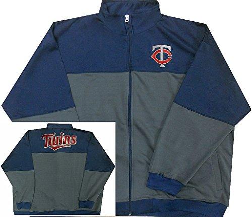 Majestic Minnesota Twins MLB Mens 2-Tone Track Jacket Big & Tall Sizes (4XL)