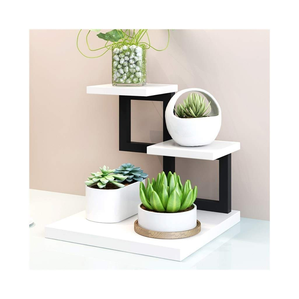 C Plant Storage Rack Mini Flower Stand Wrought Iron Desk Meat Flesh Rack Multi-Layer Indoor Balcony 30  30  28 cm (color   F)