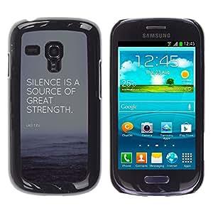 YOYOYO ( NO PARA S3 i9300 ) Smartphone Protección Defender Duro Negro Funda Imagen Diseño Carcasa Tapa Case Skin Cover Para Samsung Galaxy S3 MINI I8190 I8190N - cita fuente gran fuerza éxito