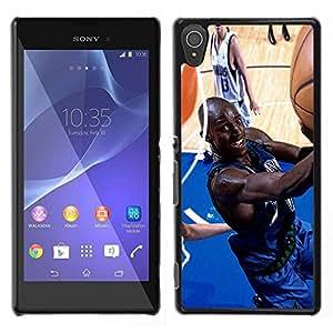iKiki Tech / Estuche rígido - Jugador de baloncesto - Sony Xperia T3