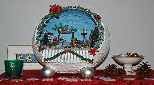 christmas diorama christmas miniature christmas decoration centerpiece table decoration holiday decor - Miniature Christmas Town Decorations