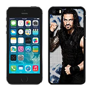 Customized Apple iPhone 5C Case Wwe Superstars Collection Wwe 2k15 Roman Reigns 01 in Black Phone Case For iPhone 5C Case