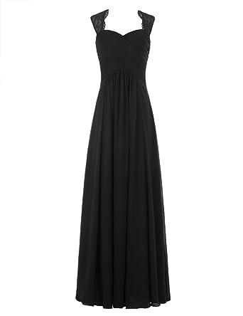 Ever Love® A-Linie Chiffon Brautjungfernkleider Ballkleid Abendkleider  Damen lang hochzeitskleid Cocktail Party  Amazon.de  Bekleidung 6b74c4a820