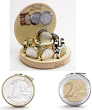 CHAMP - Mechero eléctrico (Recargable), diseño de Moneda de 1 y 2 Euros.: Amazon.es: Hogar