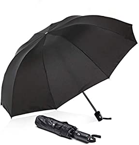 ABCCANOPY Umbrella Compact Rain&Wind Teflon Repellent, black, Size 39inch