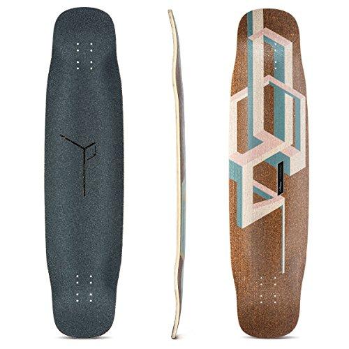 Freestyle Deck - Loaded Boards Basalt Tesseract Bamboo Longboard Skateboard Deck (Pink)