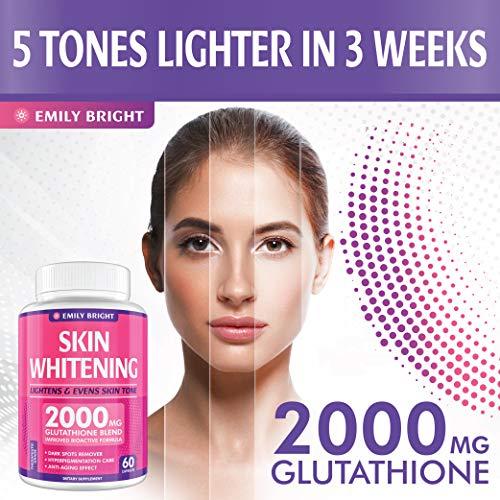 Glutathione Whitening Pills - 2000mg Glutathione - Better than Skin Lightening Cream - Dark Spots & Acne Scar Remover… 2