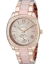 Michael Kors Womens Bryn Rose Gold-Tone Watch MK6135