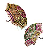 Home Decorative Handicrafts Items handicrafts decorative arts & crafts Jaipuri Embroidery Work Wedding Umbrella by CarryWishiya