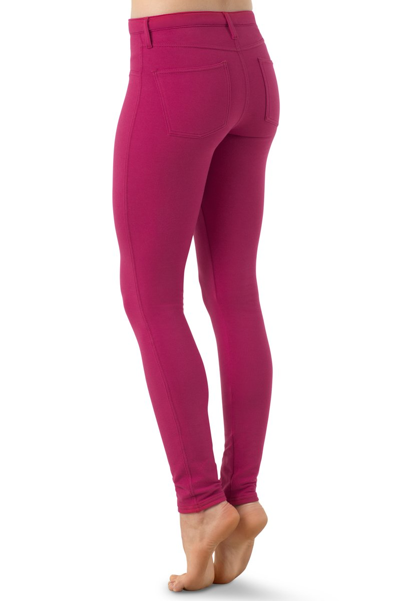Balera Jeggings Womens Denim Leggings for Dance Girls Pants with Mid Rise Fit and Bright Colors Lipstick XXLC by Balera